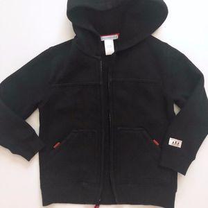 Boy Janie & Jack Black Fleece Sweatshirt Hoodie 3T